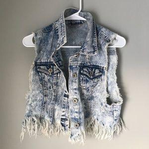 Damaged Goods Jean vest